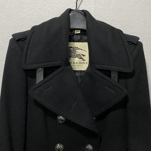 Burberry(버버리) 3865979 프로섬 블랙 모 캐시미어 혼방 블랙 여성용 코트 + 벨트 SET [대구반월당본점] 이미지4 - 고이비토 중고명품