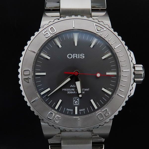 ORIS(오리스) 01 733 7730 4153 아퀴스 데이트 릴리프 43MM 오토매틱 남성용 시계 + 추가 러버밴드 [인천점] 이미지2 - 고이비토 중고명품