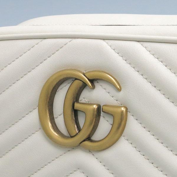 Gucci(구찌) 447632 화이트 컬러 레더 GG Marmont(마몬트) 마틀라세 금장로고 체인 크로스백 [동대문점] 이미지3 - 고이비토 중고명품