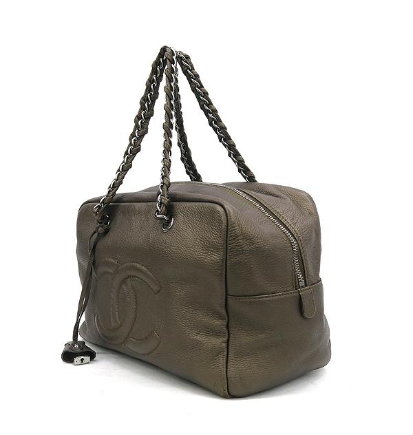 Chanel(샤넬) 브라운 컬러 램스킨 체인 볼링백 [강남본점] 이미지2 - 고이비토 중고명품
