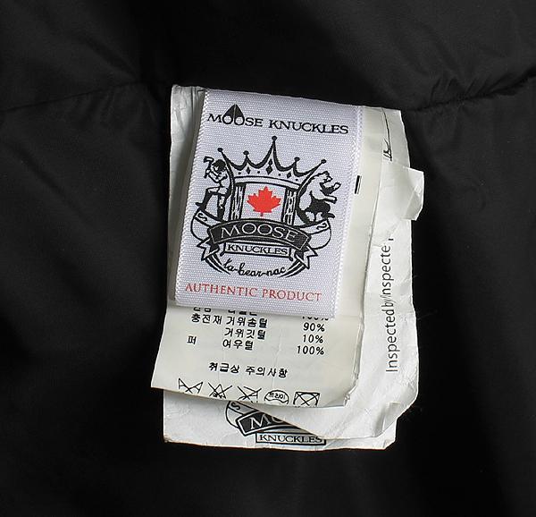 MOOSEKNUCKLES(무스너클) MK4600MMWJ 블랙 컬러 실버 폭스퍼 알곤퀸 남성용 하프 패딩 [강남본점] 이미지4 - 고이비토 중고명품