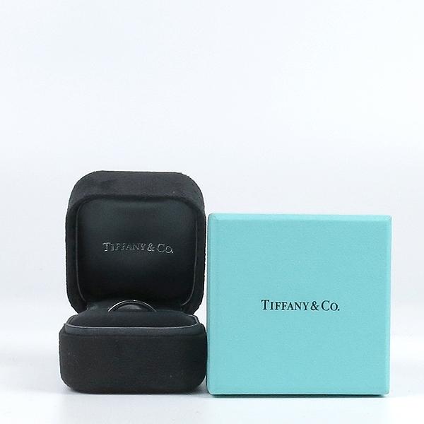 Tiffany(티파니) PT(950) 플래티늄 라운드 로고 브릴리언트 3포인트 다이아 3mm 반지-18호 [강남본점]