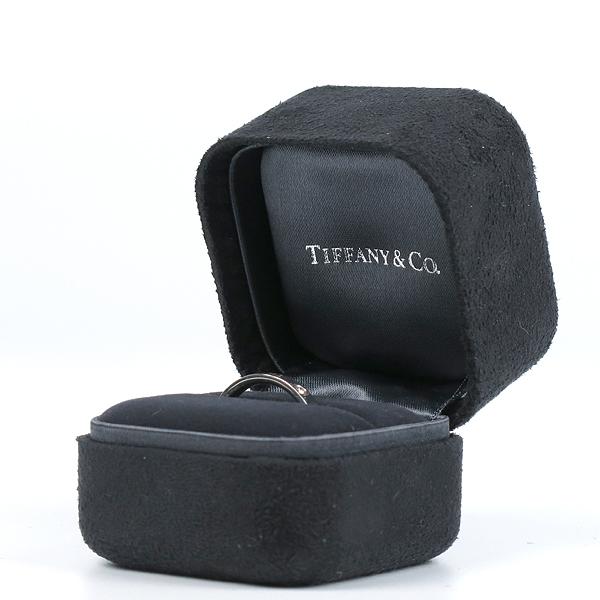 Tiffany(티파니) PT(950) 플래티늄 라운드 로고 브릴리언트 3포인트 다이아 3mm 반지-18호 [강남본점] 이미지2 - 고이비토 중고명품
