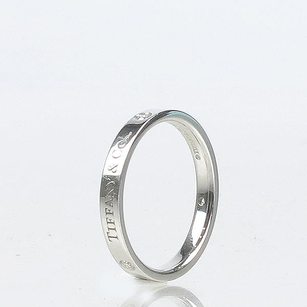 Tiffany(티파니) PT(950) 플래티늄 라운드 로고 브릴리언트 3포인트 다이아 3mm 반지-18호 [강남본점] 이미지3 - 고이비토 중고명품
