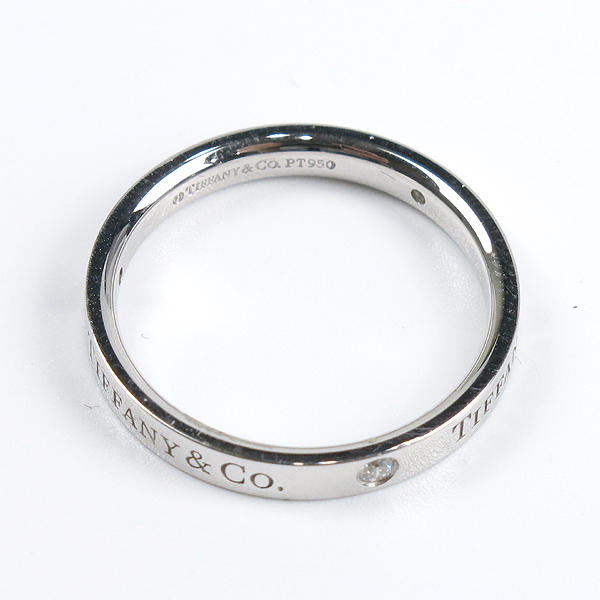Tiffany(티파니) PT(950) 플래티늄 라운드 로고 브릴리언트 3포인트 다이아 3mm 반지-18호 [강남본점] 이미지4 - 고이비토 중고명품