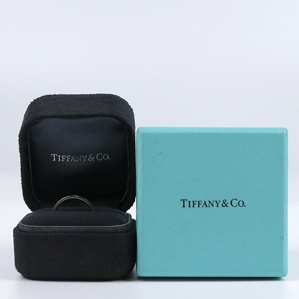 Tiffany(티파니) PT(950) 플래티늄 라운드 로고 브릴리언트 3포인트 다이아 3mm 반지-9호 [강남본점]
