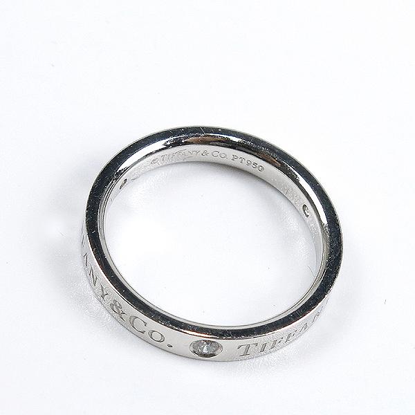 Tiffany(티파니) PT(950) 플래티늄 라운드 로고 브릴리언트 3포인트 다이아 3mm 반지-9호 [강남본점] 이미지4 - 고이비토 중고명품