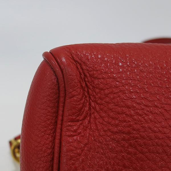 Prada(프라다) 1BB797 금장 레드 비텔로다이노 보스턴 토트백 + 숄더스트랩 [부산센텀본점] 이미지5 - 고이비토 중고명품