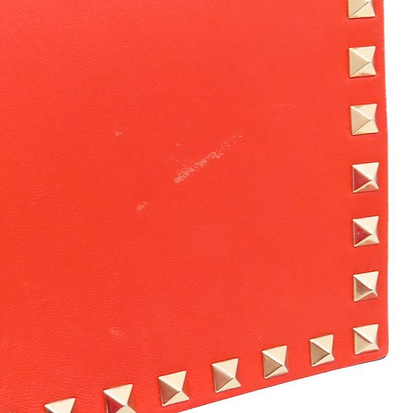 VALENTINO(발렌티노) HWB00399 오렌지 컬러 램스킨 레더 금장 락 스터드 플랩 클러치 [인천점] 이미지5 - 고이비토 중고명품
