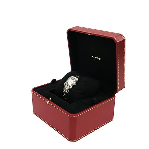 Cartier(까르띠에) WSTA0005 탱크 프랑세즈 신형 M사이즈 쿼츠 스틸 남여공용 시계 [부산센텀본점] 이미지2 - 고이비토 중고명품