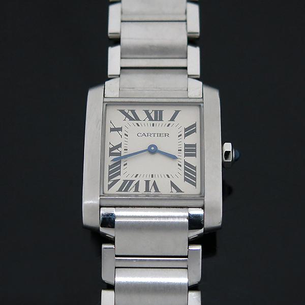 Cartier(까르띠에) WSTA0005 탱크 프랑세즈 신형 M사이즈 쿼츠 스틸 남여공용 시계 [부산센텀본점] 이미지3 - 고이비토 중고명품