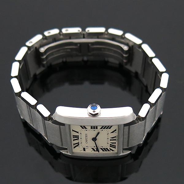 Cartier(까르띠에) WSTA0005 탱크 프랑세즈 신형 M사이즈 쿼츠 스틸 남여공용 시계 [부산센텀본점] 이미지4 - 고이비토 중고명품