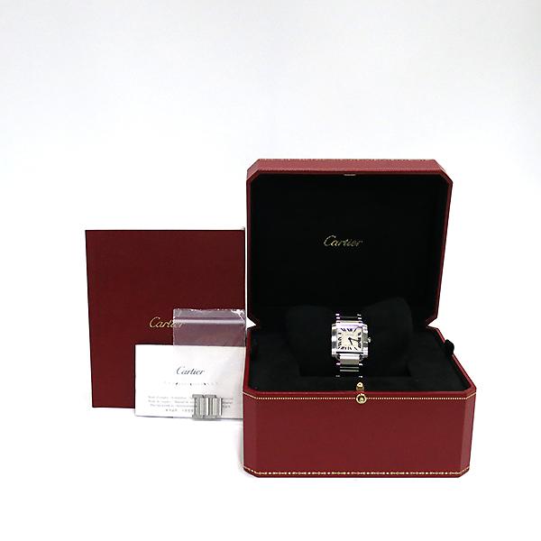 Cartier(까르띠에) WSTA0005 탱크 프랑세즈 신형 M사이즈 쿼츠 스틸 남여공용 시계 [부산센텀본점]