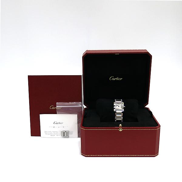 Cartier(까르띠에) W51008Q3 탱크 프랑세스 S사이즈 쿼츠 스틸 여성용 시계 [부산센텀본점]