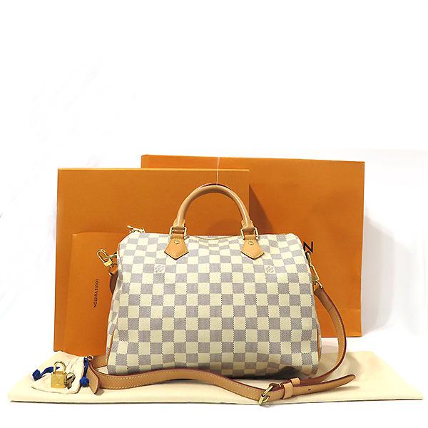 Louis Vuitton(루이비통) N41373 다미에 아주르 캔버스 스피디 반둘리에 30 토트백 + 숄더스트랩  [부산서면롯데점]