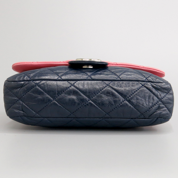 Chanel(샤넬) 핑크 / 다크 퍼플 투톤 레더 퀼팅 플랩 은장 체인 숄더백 [동대문점] 이미지6 - 고이비토 중고명품