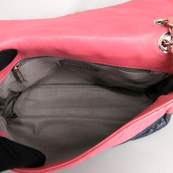 Chanel(샤넬) 핑크 / 다크 퍼플 투톤 레더 퀼팅 플랩 은장 체인 숄더백 [동대문점] 이미지7 - 고이비토 중고명품