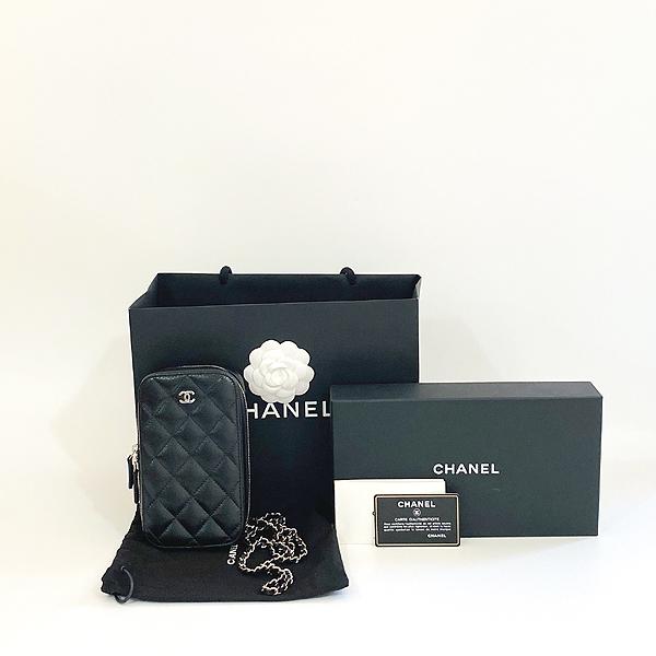 Chanel(샤넬) A70655 은장 COCO 로고 블랙 캐비어 미니 크로스백 [대구동성로점]