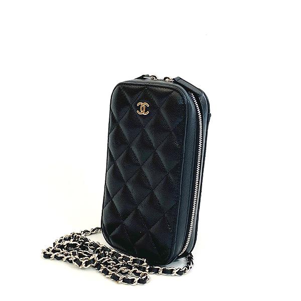 Chanel(샤넬) A70655 은장 COCO 로고 블랙 캐비어 미니 크로스백 [대구동성로점] 이미지3 - 고이비토 중고명품