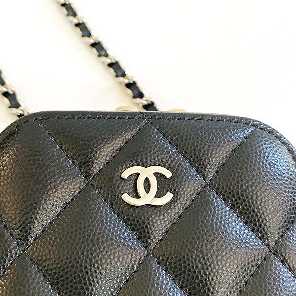Chanel(샤넬) A70655 은장 COCO 로고 블랙 캐비어 미니 크로스백 [대구동성로점] 이미지4 - 고이비토 중고명품