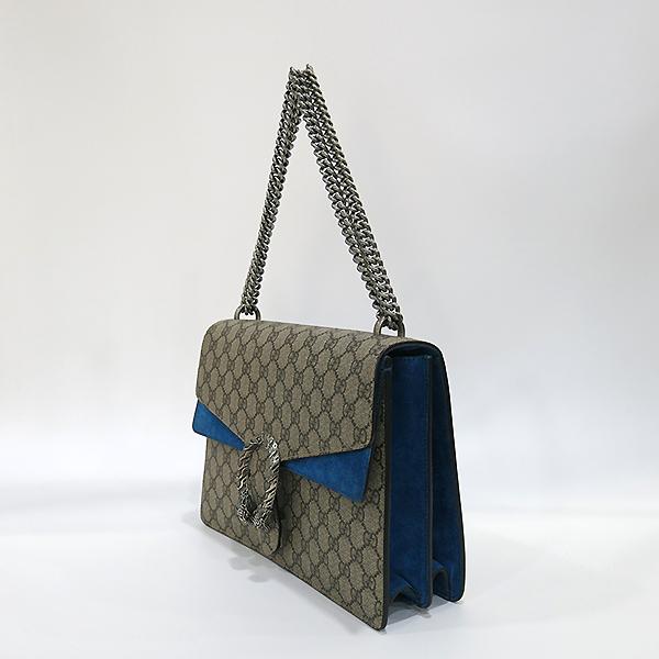 Gucci(구찌) 403348 블루 컬러 GG로고 Dionysus(디오니소스) L 라지 사이즈 은장 체인 숄더백 [부산센텀본점] 이미지3 - 고이비토 중고명품