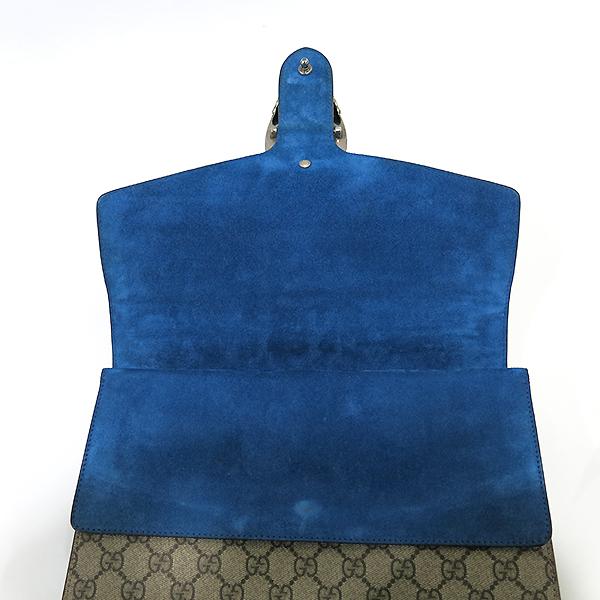 Gucci(구찌) 403348 블루 컬러 GG로고 Dionysus(디오니소스) L 라지 사이즈 은장 체인 숄더백 [부산센텀본점] 이미지6 - 고이비토 중고명품
