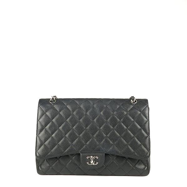 Chanel(샤넬) A58601 블랙 컬러 캐비어스킨 클래식 맥시 사이즈 은장 체인 숄더백 [강남본점] 이미지2 - 고이비토 중고명품