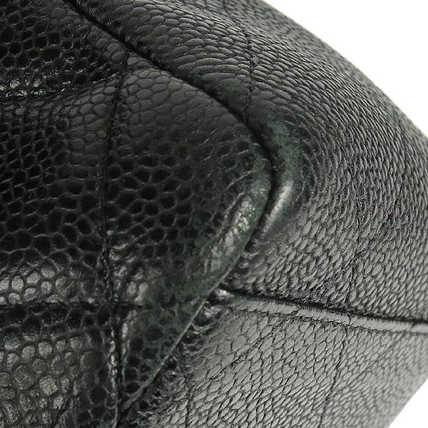 Chanel(샤넬) A58601 블랙 컬러 캐비어스킨 클래식 맥시 사이즈 은장 체인 숄더백 [강남본점] 이미지5 - 고이비토 중고명품