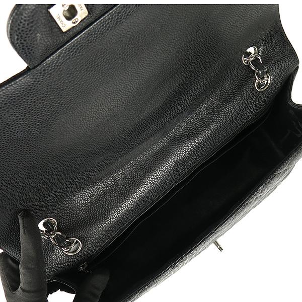 Chanel(샤넬) A58601 블랙 컬러 캐비어스킨 클래식 맥시 사이즈 은장 체인 숄더백 [강남본점] 이미지6 - 고이비토 중고명품