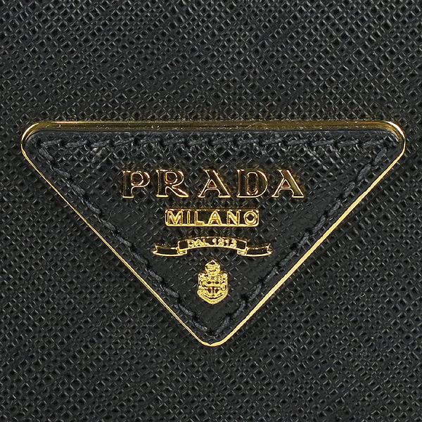 Prada(프라다) 1BA896 블랙 사피아노 럭스 S사이즈 토트백+숄더스트랩 2WAY [강남본점] 이미지5 - 고이비토 중고명품