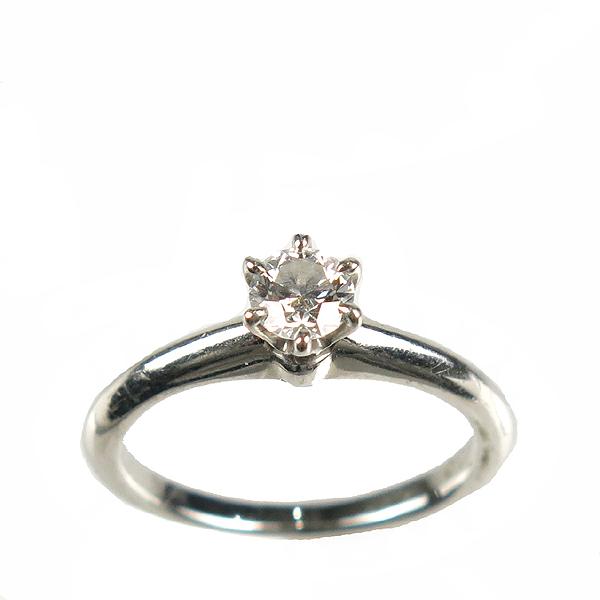 Tiffany(티파니) PT950(플레티늄) 0.27CT(캐럿)  다이아 웨딩 반지 - 5.5호 [강남본점]