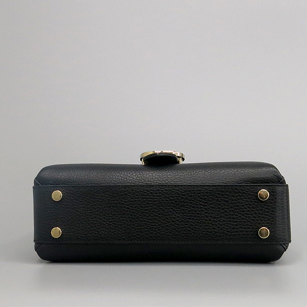 Gucci(구찌) 510302 블랙 레더 금장 아이콘 인터로킹 탑핸들 체인 숄더백 [동대문점] 이미지4 - 고이비토 중고명품