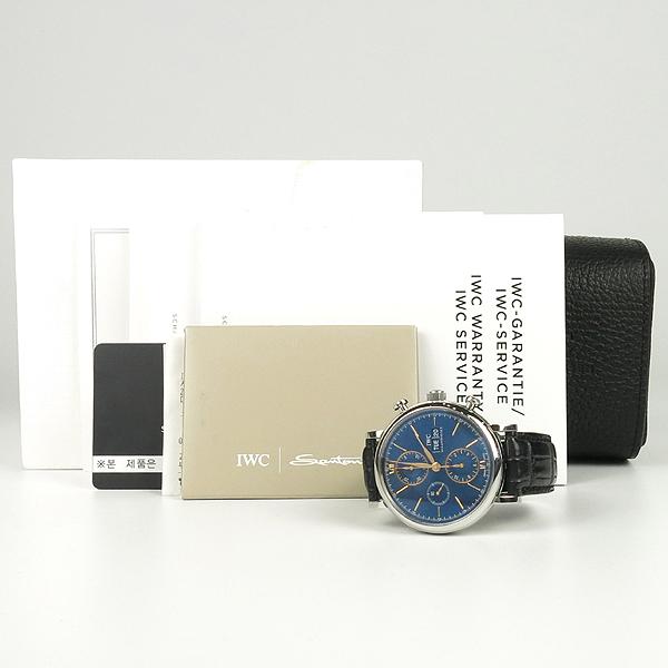IWC(아이더블유씨) IW391036 PORTOFINO (포르토피노)  42MM 가죽밴 드 남성용 시계 [강남본점]