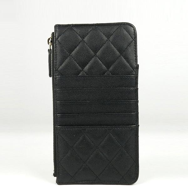 Chanel(샤넬) A81598 블랙 캐비어스킨 금장 COCO 로고 미니 클래식 클러치 겸 미니지갑 [강남본점] 이미지3 - 고이비토 중고명품