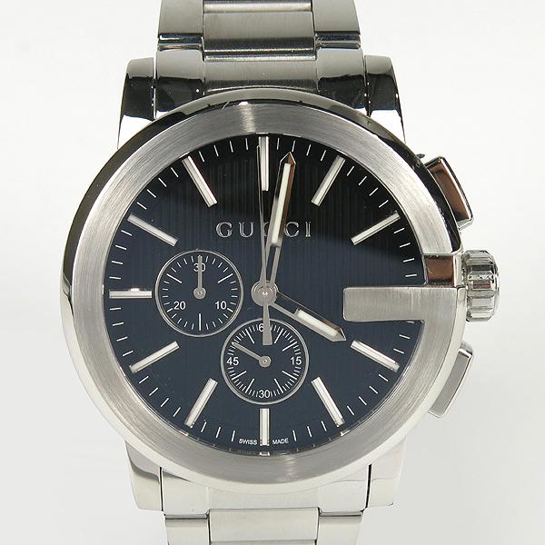 Gucci(구찌) YA101204 블랙 다이얼 G 크로노 크로노그래프 44mm 쿼츠 스틸 남성용 시계 [잠실점] 이미지2 - 고이비토 중고명품