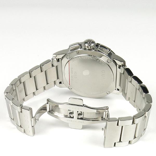 Gucci(구찌) YA101204 블랙 다이얼 G 크로노 크로노그래프 44mm 쿼츠 스틸 남성용 시계 [잠실점] 이미지4 - 고이비토 중고명품