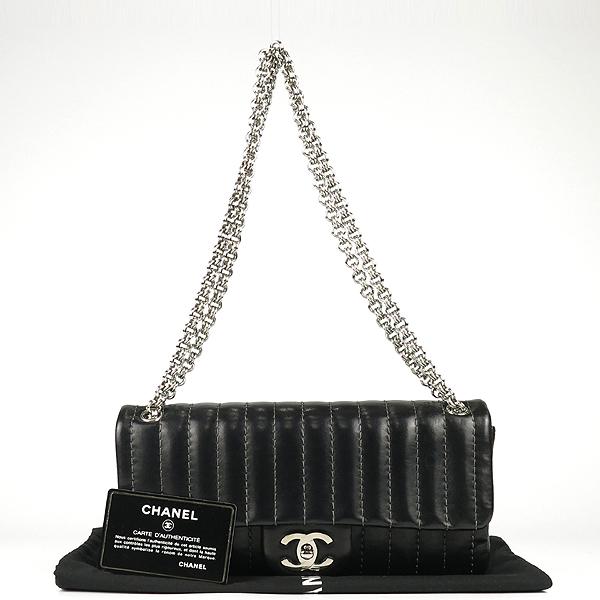 Chanel(샤넬) 블랙 램스킨 COCO로고 미니 플랩 체인 숄더백 [강남본점]