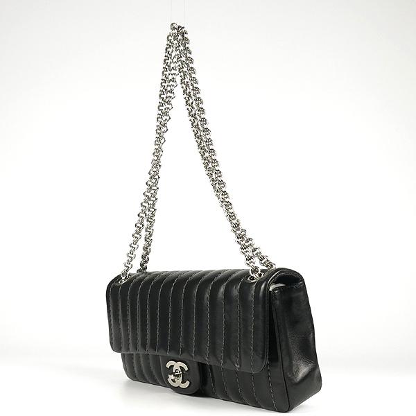 Chanel(샤넬) 블랙 램스킨 COCO로고 미니 플랩 체인 숄더백 [강남본점] 이미지3 - 고이비토 중고명품