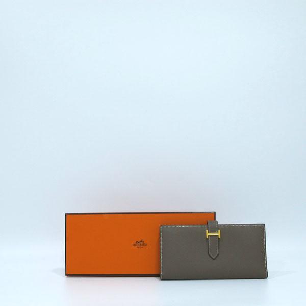 Hermes(에르메스) 금장 로고 에토프 컬러 베안 장지갑  [대구반월당본점]