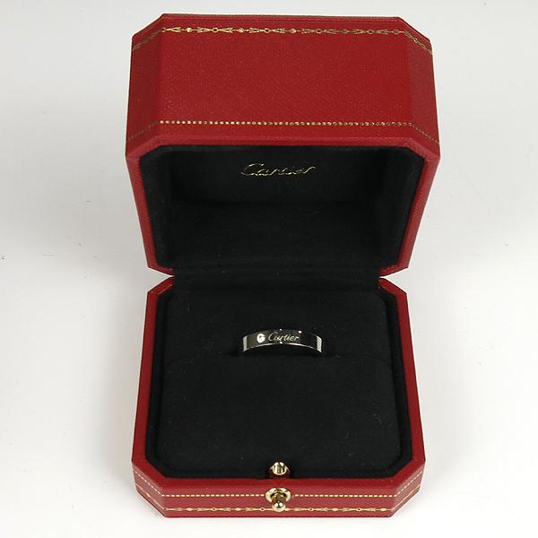 Cartier(까르띠에) B4098265  PT950(플레티늄) C de Cartier (C 드 까르띠에)  1포인트 다이아 웨딩 밴드 4MM반지 - 25호 [강남본점] 이미지2 - 고이비토 중고명품