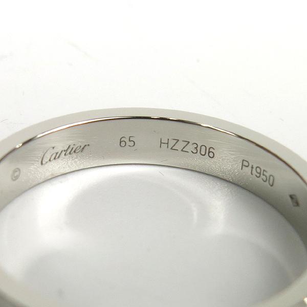 Cartier(까르띠에) B4098265  PT950(플레티늄) C de Cartier (C 드 까르띠에)  1포인트 다이아 웨딩 밴드 4MM반지 - 25호 [강남본점] 이미지5 - 고이비토 중고명품