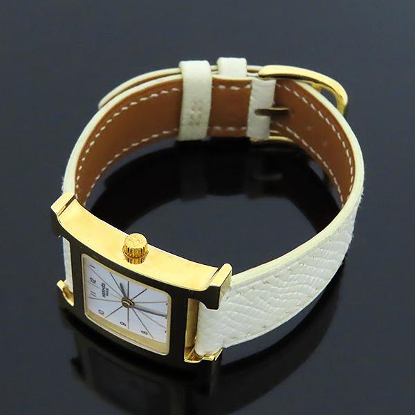 Hermes(에르메스) HH1.201 H아워 금장 가죽밴드 여성용 시계 [대전본점] 이미지3 - 고이비토 중고명품