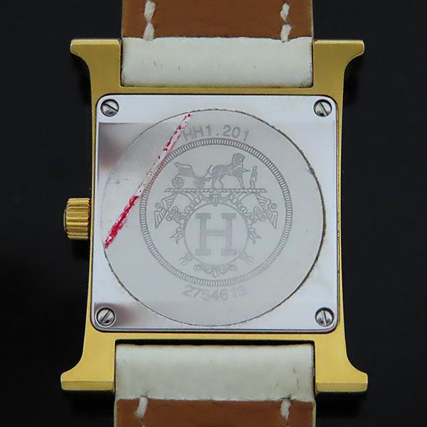 Hermes(에르메스) HH1.201 H아워 금장 가죽밴드 여성용 시계 [대전본점] 이미지4 - 고이비토 중고명품