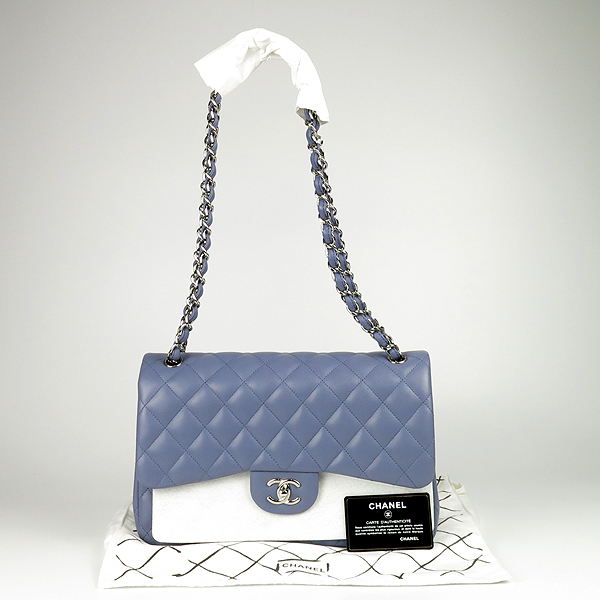 Chanel(샤넬) A58600 램스킨 클래식 점보 사이즈 은장 체인 숄더백 [강남본점]