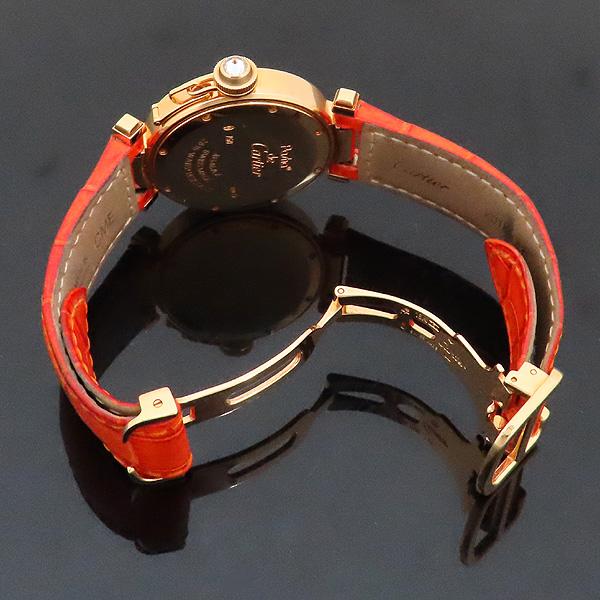 Cartier(까르띠에) WJ11951G PASHA DE CARTIER(파샤 드 까르띠에) 750(18K) 핑크 골드 크로커다일 오렌지 컬러 가죽 밴드 쿼츠 여성용 시계 [인천점] 이미지5 - 고이비토 중고명품