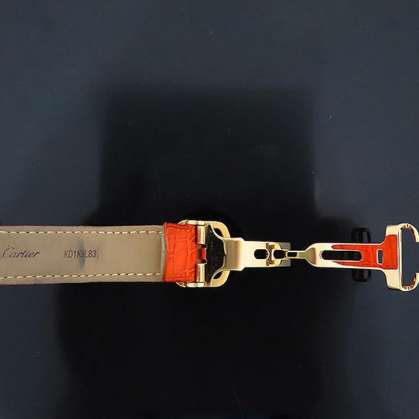Cartier(까르띠에) WJ11951G PASHA DE CARTIER(파샤 드 까르띠에) 750(18K) 핑크 골드 크로커다일 오렌지 컬러 가죽 밴드 쿼츠 여성용 시계 [인천점] 이미지7 - 고이비토 중고명품