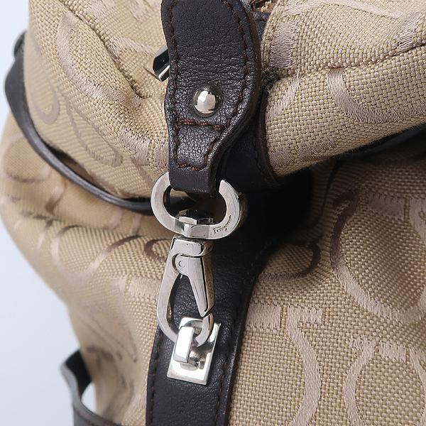 Ferragamo(페라가모) 21 7779 은장 간치노 로고 장식 패브릭 토트백 [강남본점] 이미지3 - 고이비토 중고명품