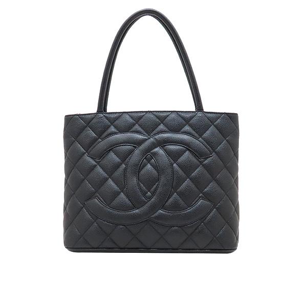 Chanel(샤넬) A01804 블랙 캐비어스킨 은장 COCO 로고 코인 토트백 [인천점] 이미지2 - 고이비토 중고명품