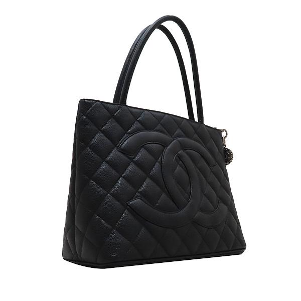 Chanel(샤넬) A01804 블랙 캐비어스킨 은장 COCO 로고 코인 토트백 [인천점] 이미지3 - 고이비토 중고명품