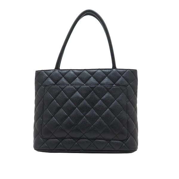 Chanel(샤넬) A01804 블랙 캐비어스킨 은장 COCO 로고 코인 토트백 [인천점] 이미지4 - 고이비토 중고명품